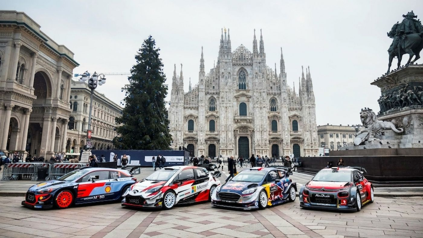 WRC turns on style in Milan