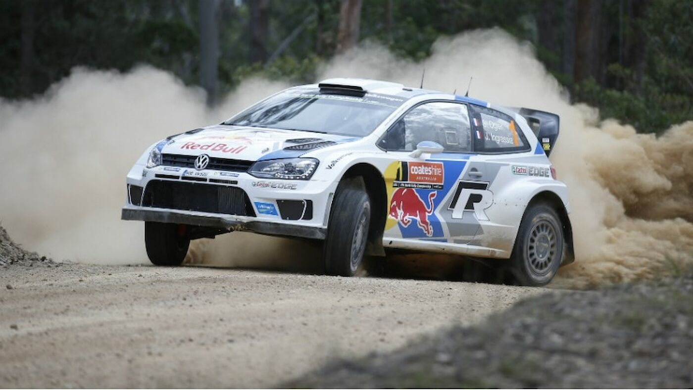 Ogier charges back to lead in Australia
