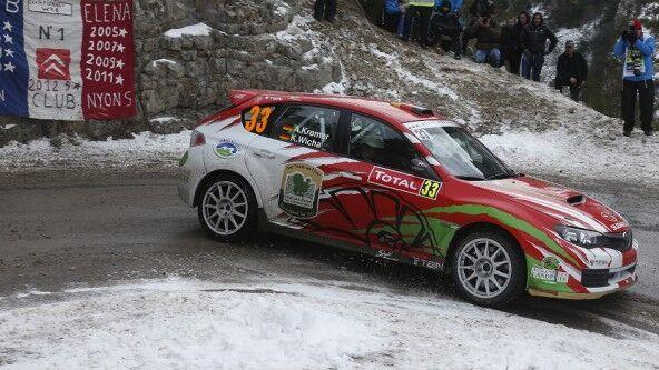 Kremer finalizó segundo en el Monte Carlo de 2013 al volante de este Subaru