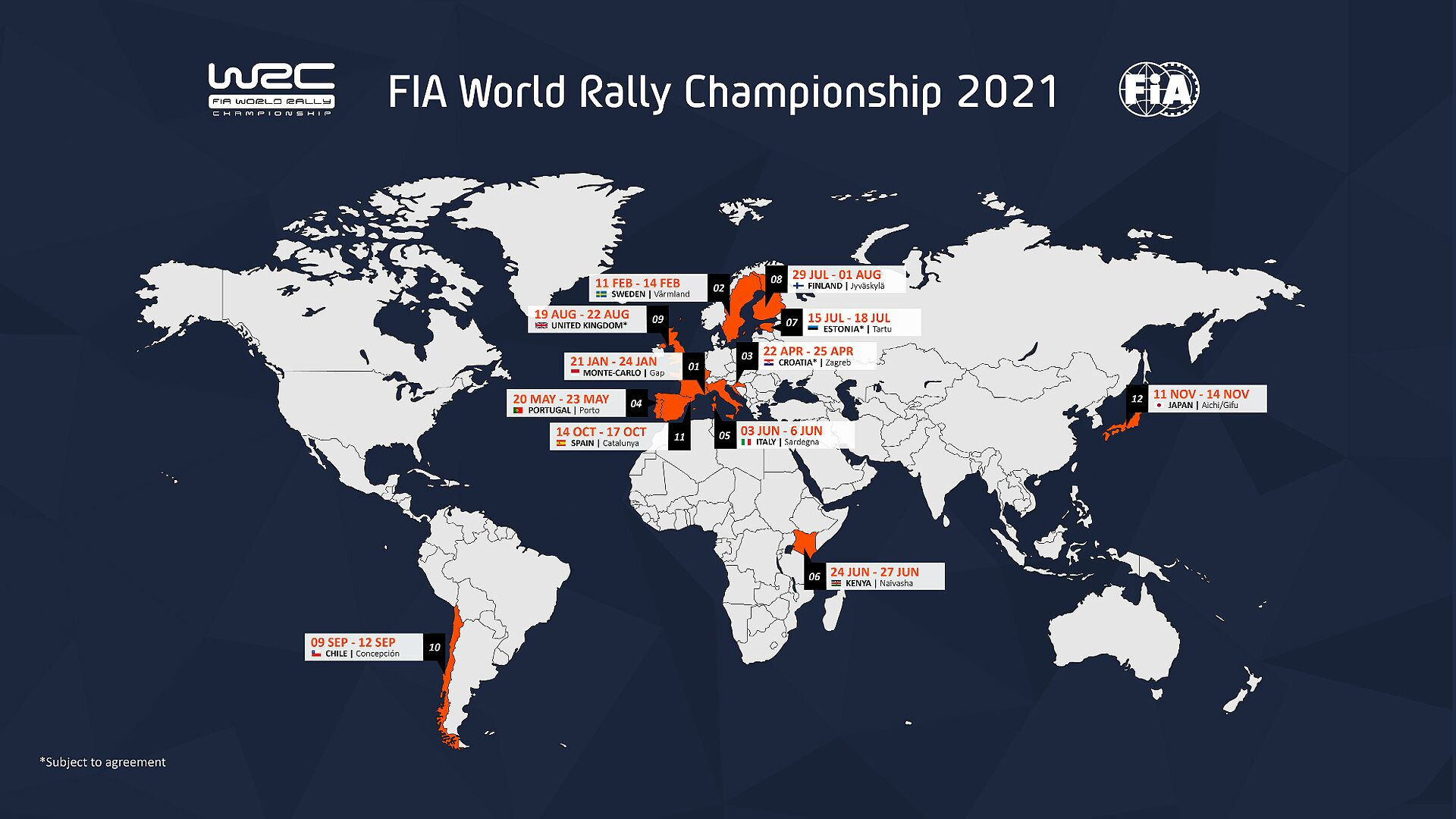Calendrier 2021 Wrc Croatia and Estonia named in 2021 WRC calendar