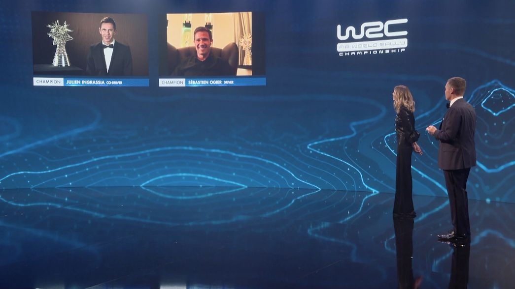 Los campeones del WRC honrados en una ceremonia virtual