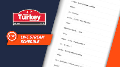LIVE STREAM SCHEDULE RALLY TURKEY