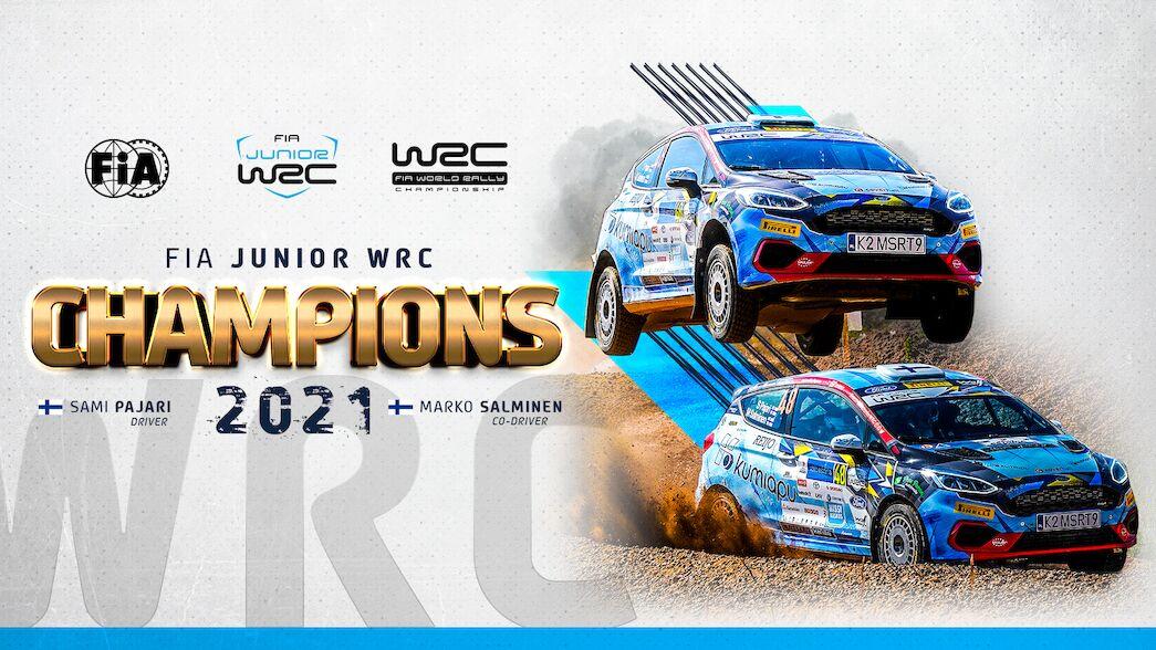 Pajari crowned FIA Junior WRC champion