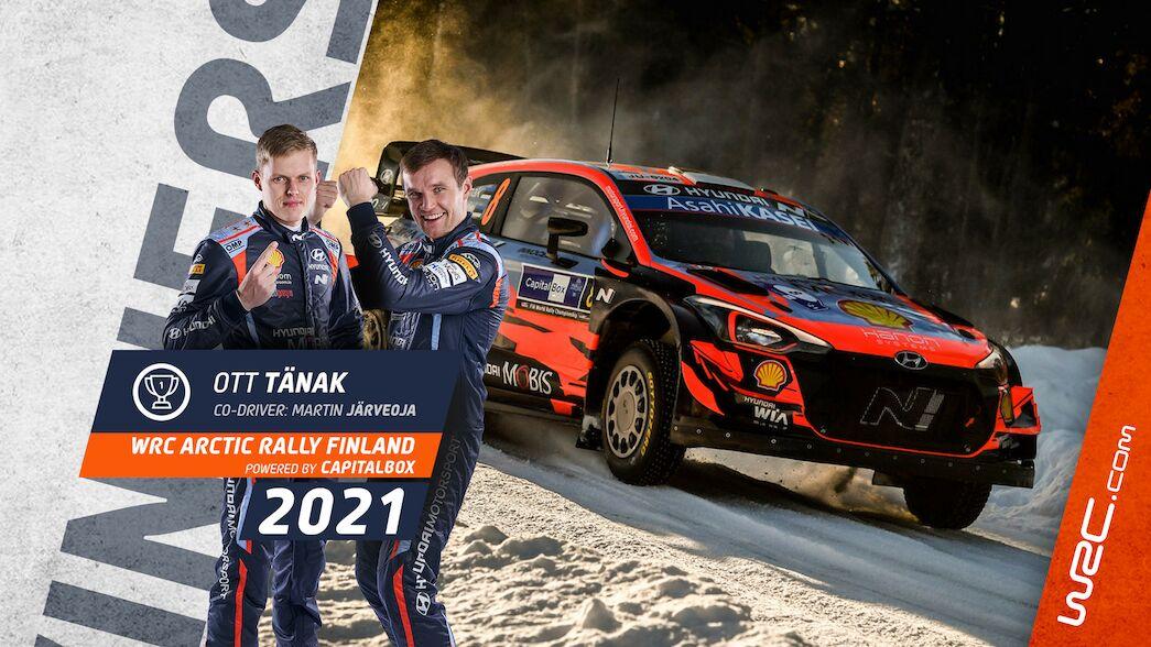 Tänak gana el Arctic, Rovanperä se pone líder del WRC