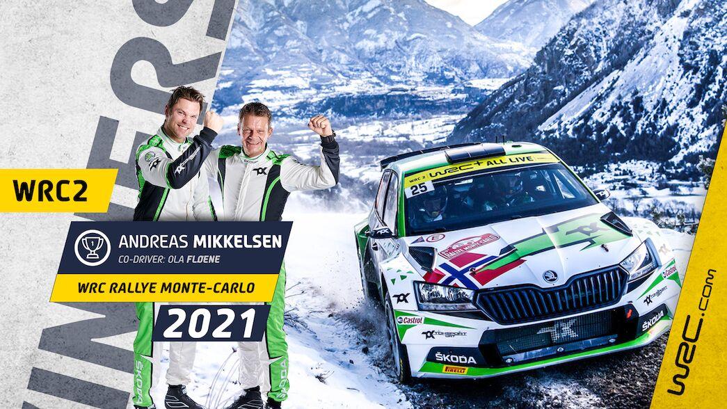 WRC2: Mikkelsen's dream start in Monte-Carlo