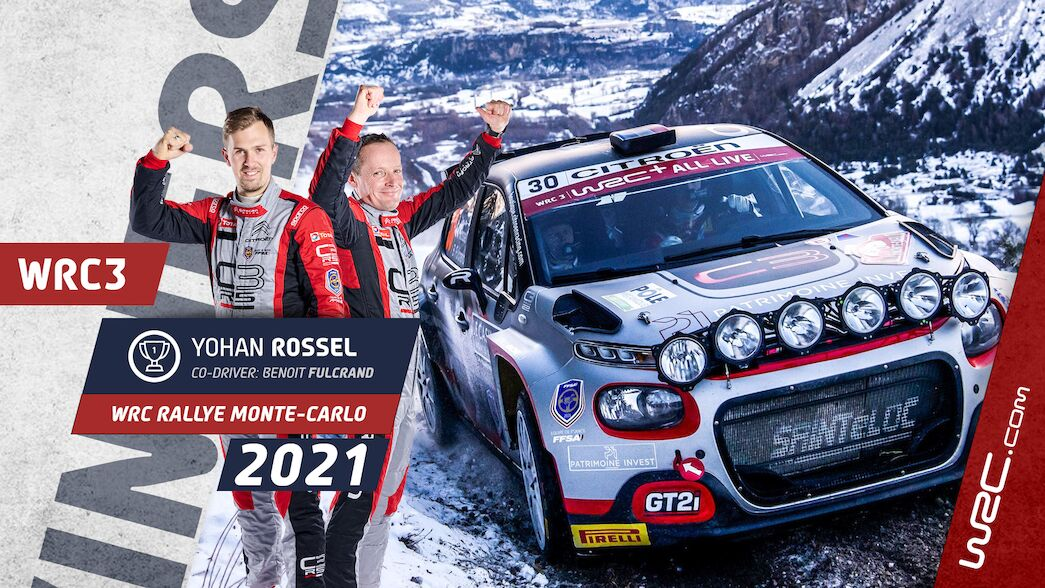 WRC3: Rossel clinches maiden victory in Monte