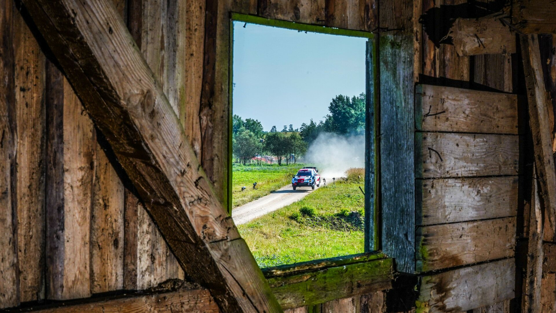 View from the service park – Estonia