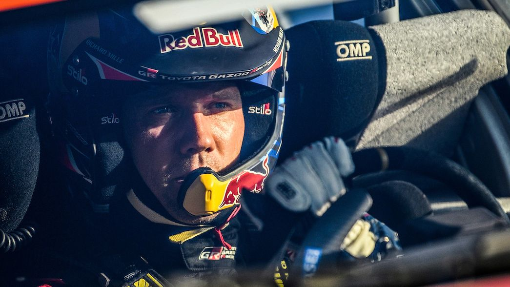 Sébastien Ogier au volant de la Toyota Yaris Rally1