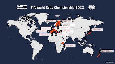 WRC roars into hybrid era with expanded 2022 calendar