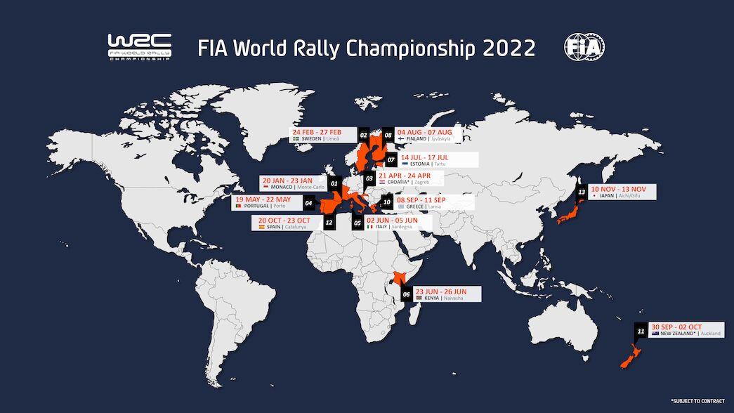 Un calendrier étendu pour ouvrir l'ère hybride du WRC en 2022