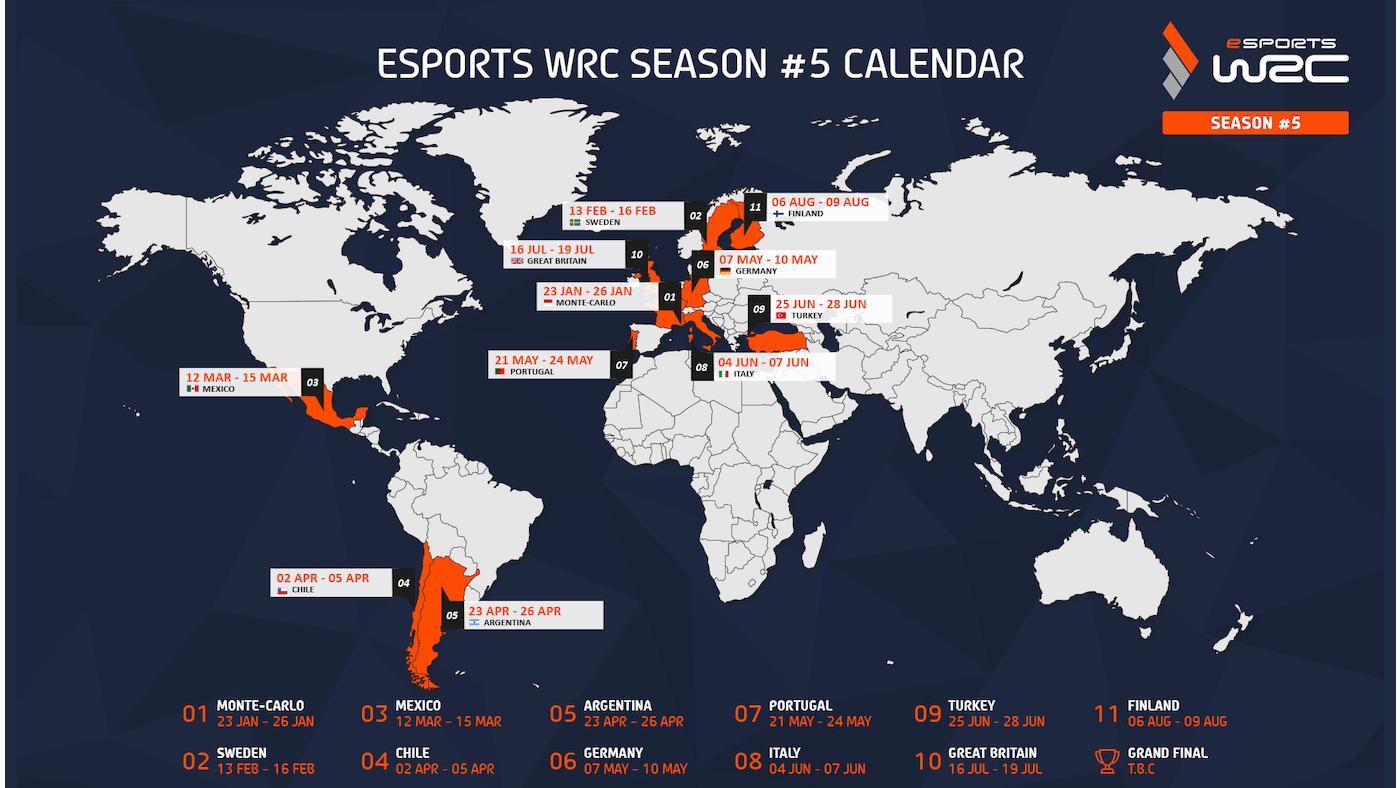 La temporada eSports WRC #5